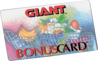 Giant Bonus Card A+Rewards